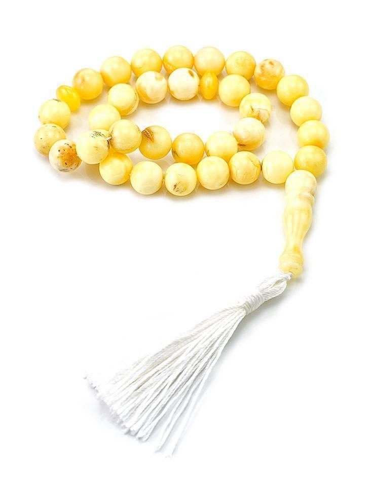 Islamic 33 Ball Cut Amber Prayer Beads, image , picture 3