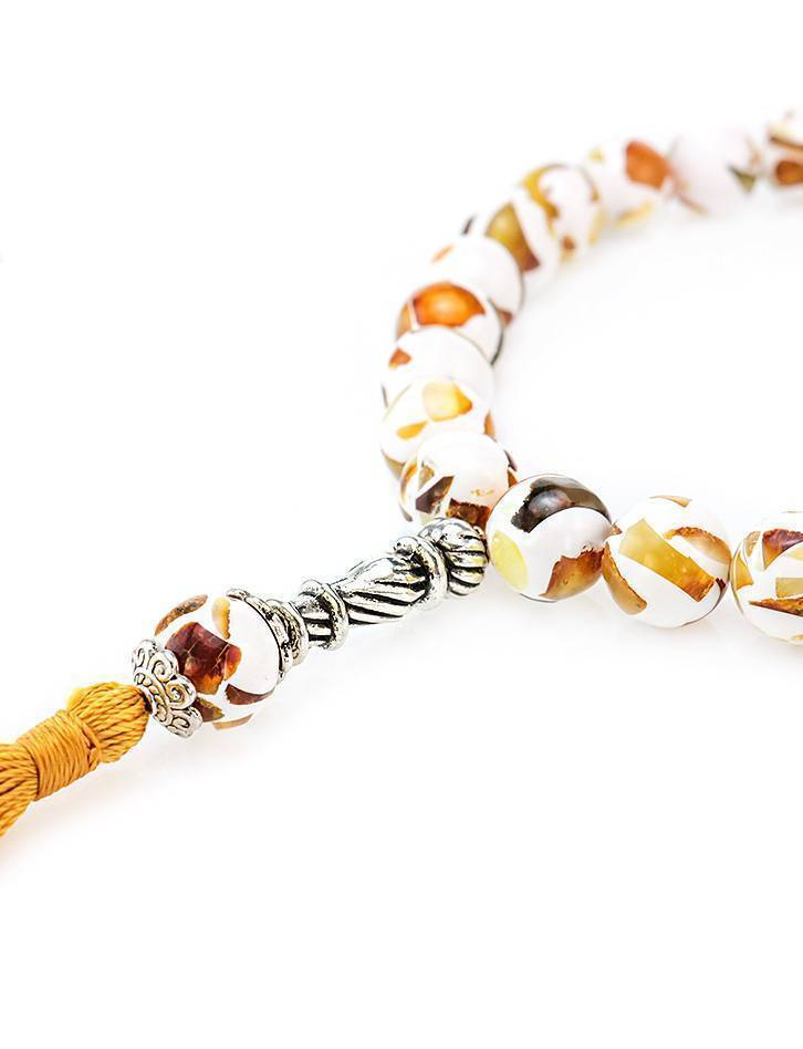 Islamic 33 Multicolor Amber Prayer Beads The Dalmatian, image , picture 3