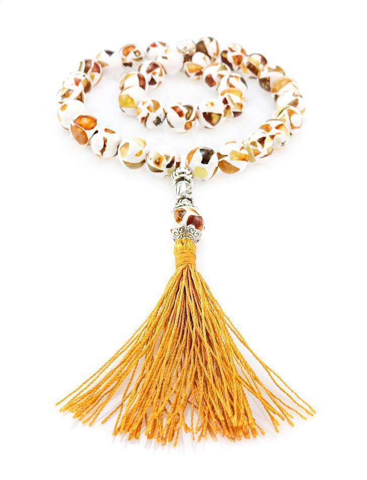 Islamic 33 Multicolor Amber Prayer Beads The Dalmatian, image