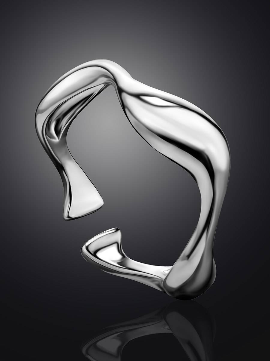 Silver Wave Stacking Ring, image , picture 2