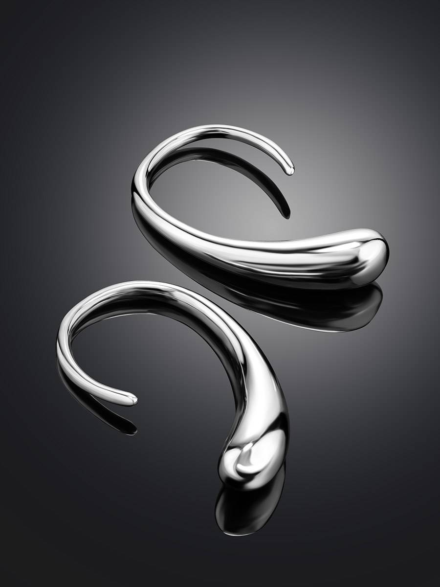 Statement Silver Drop Earrings, image , picture 2