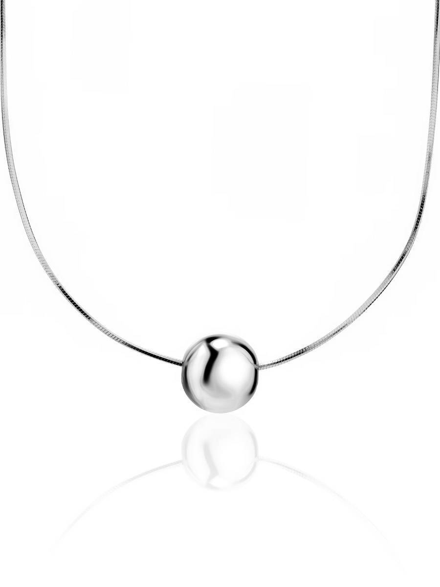 Silver Orb Pendant Necklace, image