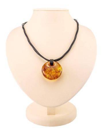 Cognac Amber Pendant Necklace, image