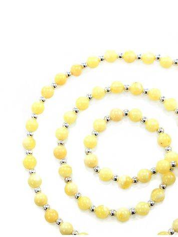 Amber Beaded Necklace With Bail, image
