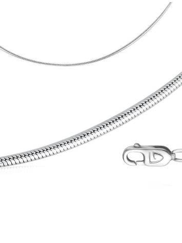 Sterling silver Curb chain 1.6mm, Length: 40, image