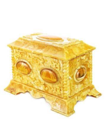 Handcrafted Honey Amber Casket, image