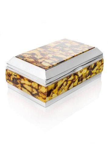 Mosaic Amber Jewelry Box, image