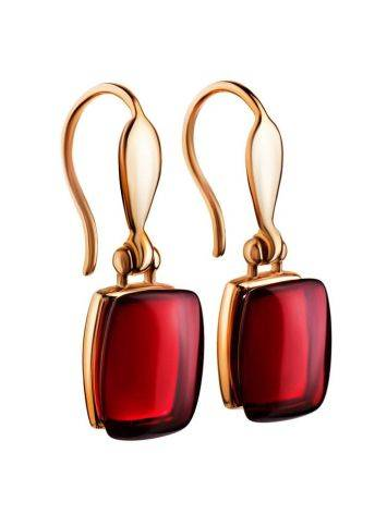 Amber Earrings In Gold The Sangria, image