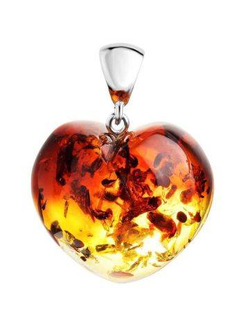 Shimmering Amber Heart Pendant The Declaration, image