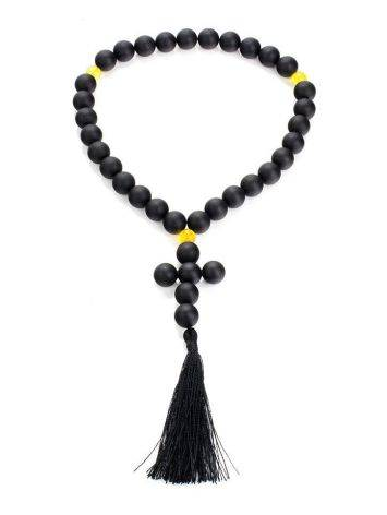 Orthodox 33 Black Amber Prayer Beads The Cuba, image