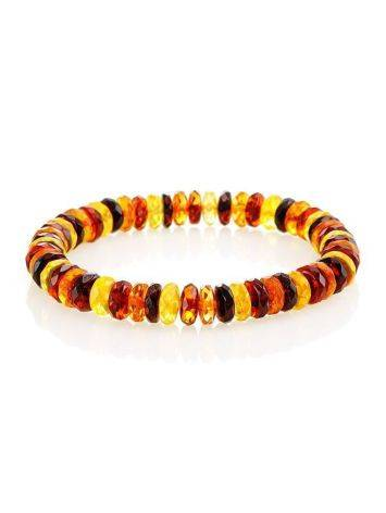 Multicolor Amber Beaded Designer Bracelet The Prague, image