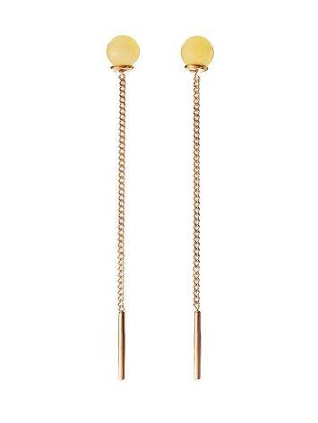 Amber Earrings In Gold-Plated Silver The Jupiter, image
