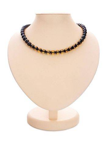 Faceted Green Amber Beaded Necklace The Prague, image
