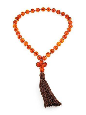 Orthodox 33 Cognac Amber Prayer Beads, image