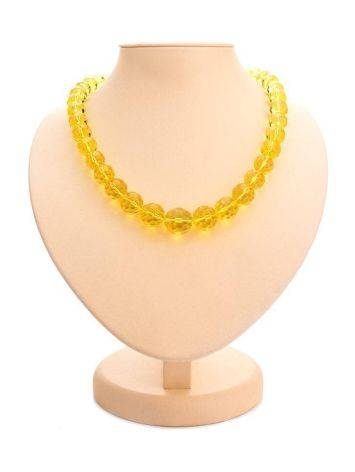 Faceted Lemon Amber Ball Beaded Necklace The Prague, image