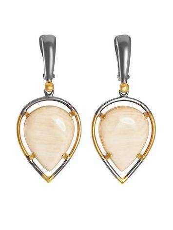 Drop Cut Mammoth Tusk Earrings In Gold-Plated Silver The Era, image