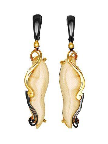 Elongated Mammoth Tusk Earrings In Gold-Plated Silver The Era, image