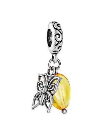 Filigree Charm With Lemon Amber The Butterfly, image
