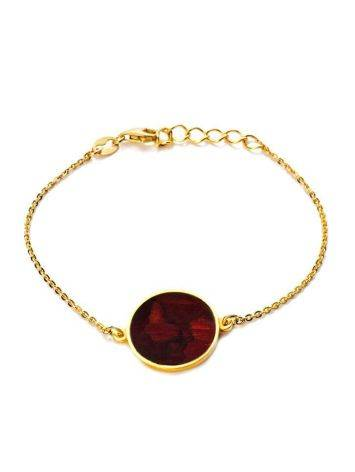 Chain Amber Bracelet In Gold Plated Silver The Monaco, image