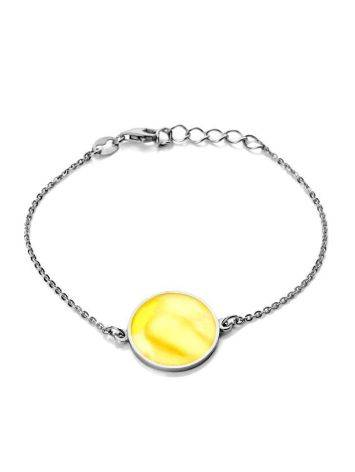 Chain Amber Bracelet In Sterling Silver The Monaco, image