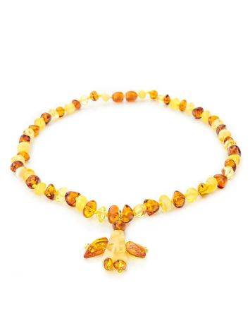 Amber Angel Shaped Pendant Necklace, image