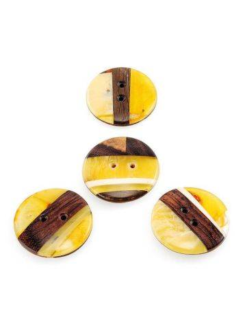Decorative Amber Button With Wood The Indonesia, image