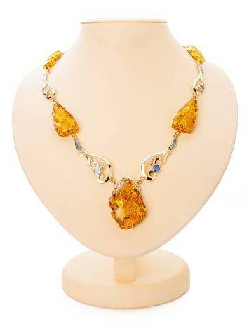 Exclusive Golden Amber Necklace With Nacre The Atlantis, image