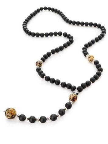 Black Amber Mala Beads The Cuba, image