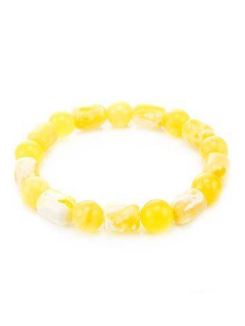 Honey Amber Beaded Stretch Bracelet, image