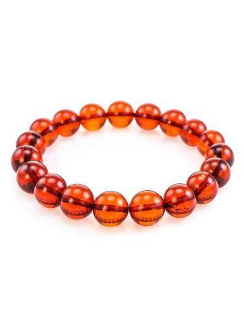 Cherry Amber Ball Beaded Bracelet, image