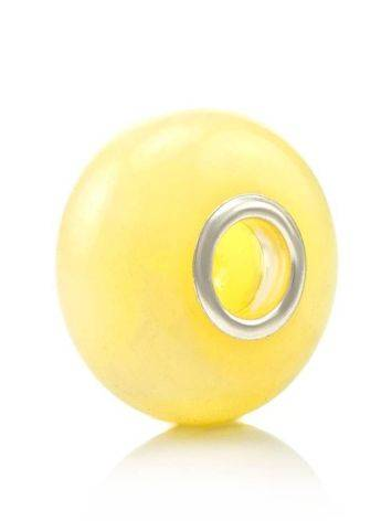 Polished Honey Amber Ball Charm, image
