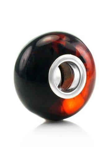High Polished Cherry Amber Ball Charm, image
