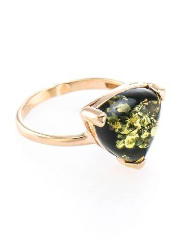 Bright Amber Ring In Gold-Plated Silver The Etude, Ring Size: 5.5 / 16, image