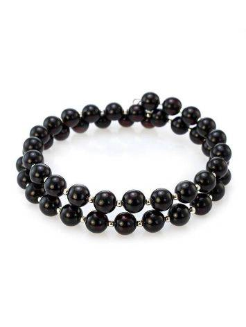 Dark Amber And Glass Beads Bracelet The Ariadna, image