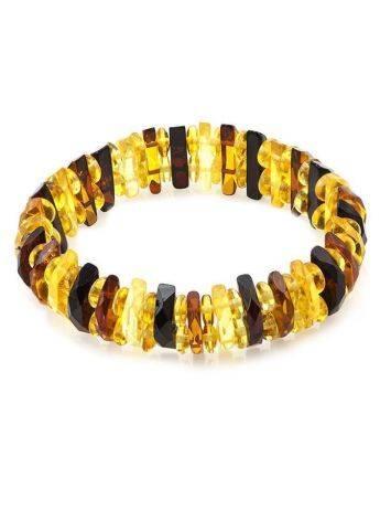 Faceted Multicolor Amber Designer Bracelet The Tangerine, image