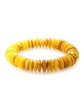 Honey Amber Designer Stretch Bracelet The Prague, image