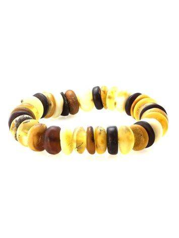 Multicolor Amber Designer Stretch Bracelet, image