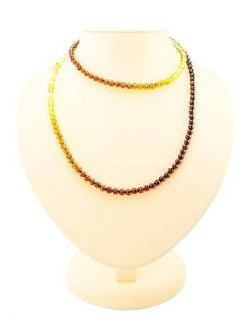 Extra Long Two-Toned Amber Beaded Necklace The Prague, image