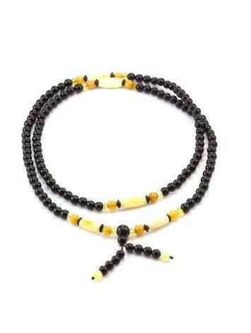 Multicolor Amber Buddhist Prayer Beads The Cuba, image