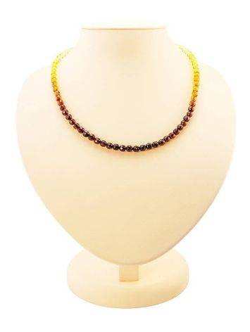 Faceted Two-Toned Amber Beaded Necklace The Prague, image