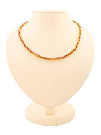 Faceted Cognac Amber Beaded Necklace The Prague, image
