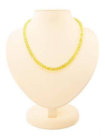 Faceted Lemon Amber Beaded Necklace The Prague, image
