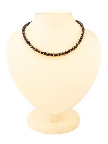 Faceted Amber Beaded Necklace The Prague, image