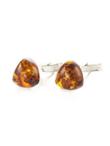 Silver Cufflinks With Cognac Amber The Acapulco, image