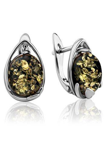 Amber Earrings In Sterling Silver The Selena, image