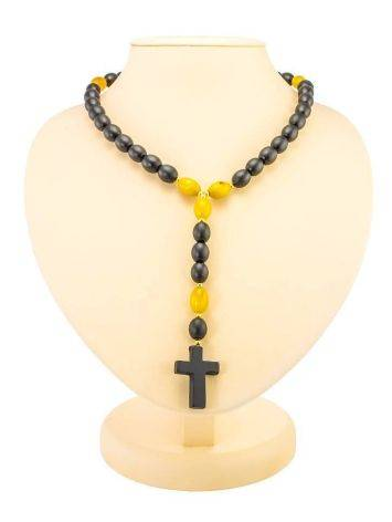 50 Olive Cut Amber Rosary The Cuba, image , picture 3