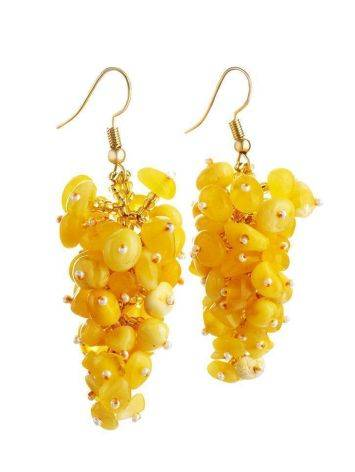 Honey Amber Drop Earrings The Fable, image , picture 3