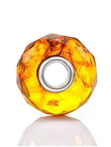 Faceted Amber Ball Charm, image , picture 4