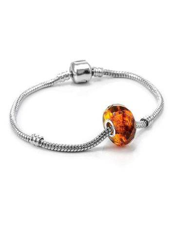 Faceted Amber Ball Charm, image , picture 3