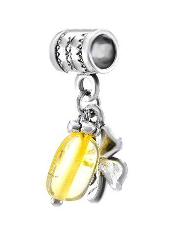 Four Leaf Charm With Lemon Amber The Shamrock, image , picture 2